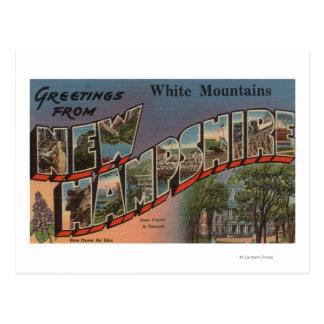 Montanhas brancas, New Hampshire 3 Cartão Postal
