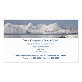 Montanhas cobertos de neve, dia de inverno cartão de visita