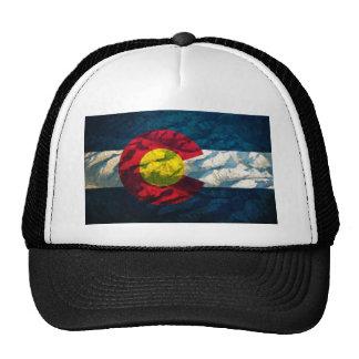 Montanhas da rocha da bandeira de Colorado Boné