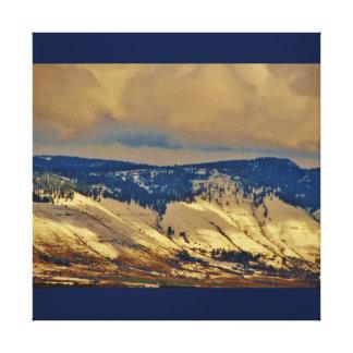 Montanhas de canvas de Oregon Impressão Em Tela