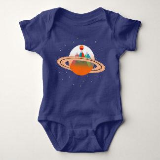 Montanhas de Saturn Sun Body Para Bebê