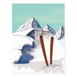Montanhas do esqui cartão postal