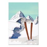 Montanhas do esqui convite personalizado