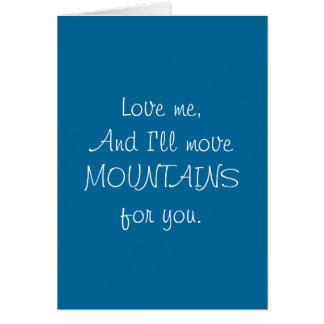 Montanhas do movimento - cartão engraçado