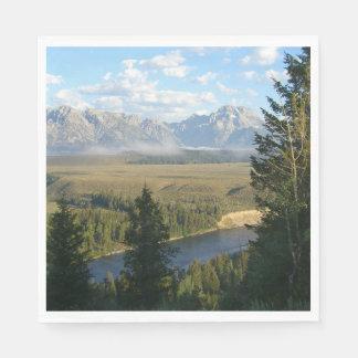 Montanhas e rio de Jackson Hole Guardanapo De Papel