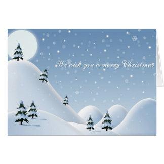 Montanhas nevado do cartão de Natal