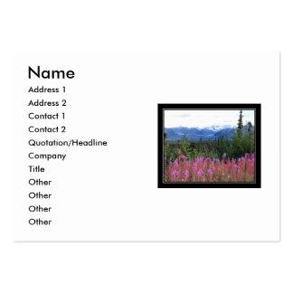 montanhas, nome, endereço 1, endereço 2, contato… cartão de visita grande