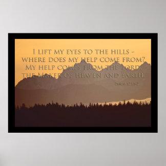 montanhas olímpicas com 121:1 do salmo - poster 2 pôster