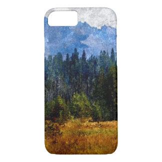Montanhas prado da cascata, Oregon Capa iPhone 7
