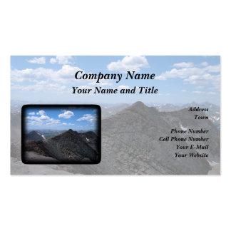 Montanhas rochosas Moonscape de Colorado Cartão De Visita