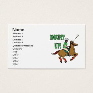 Monte acima cartão de visitas