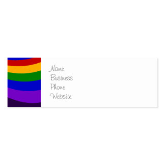 Monte as listras coloridas da corrediça do cartão de visita skinny