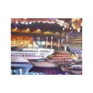 Monte - Carlo em canvas da noite