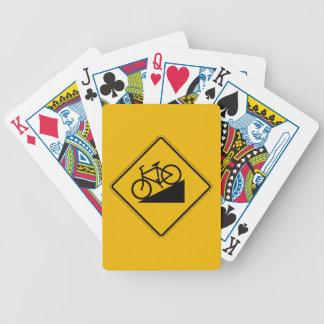 Monte da bicicleta, sinal de aviso do tráfego, EUA Jogos De Cartas