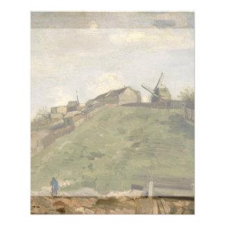 Monte de Montmartre com a pedreira de pedra por Modelos De Panfleto