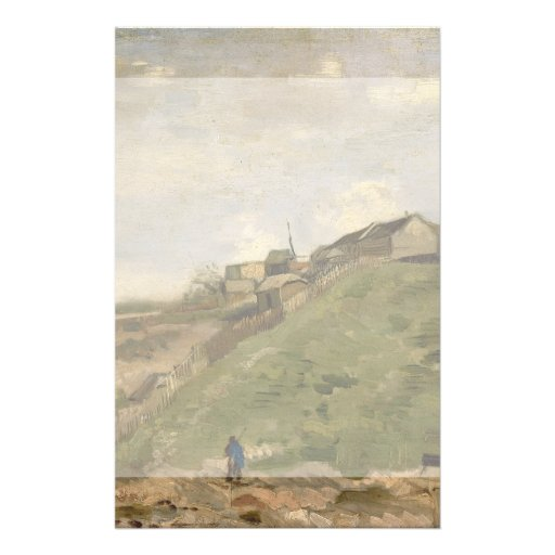 Monte de Montmartre com a pedreira de pedra por Va Panfleto Personalizados