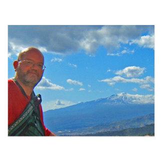 Monte Etna, cartão de Italia