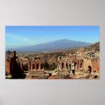Monte Etna & Teatro Greco Poster