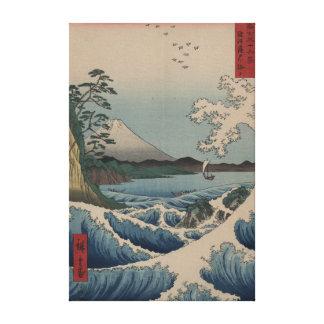 Monte Fuji do ponto de Satta na baía de Suruga Impressão Em Canvas
