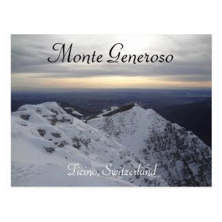 Monte Generoso, cartão suíço de Ticino - cumes