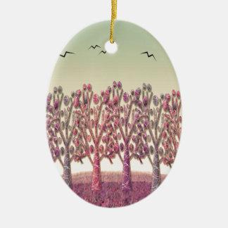 Monte mágico ornamento de cerâmica oval