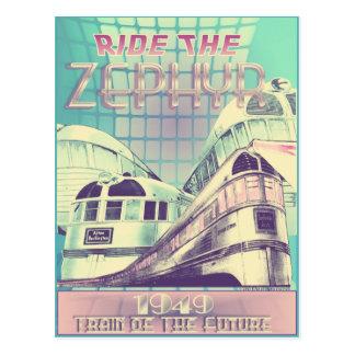 Monte o trem do Zephyr 1949 do cartão futuro