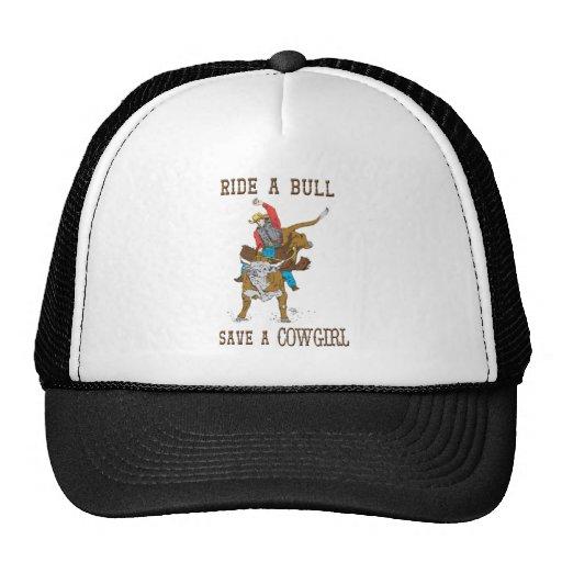 Monte umas economias de Bull um chapéu da vaqueira Boné