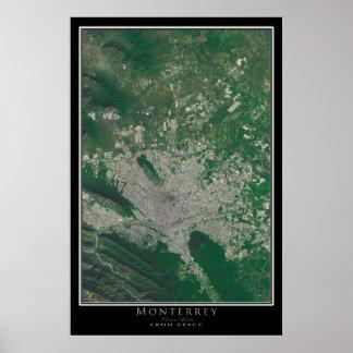 Monterrey México da arte do satélite do espaço Poster