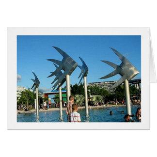 Montes de pedras Austrália das esculturas dos peix Cartão Comemorativo