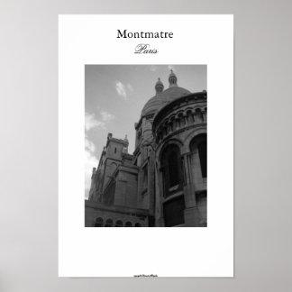 Montmatre Paris Pôster