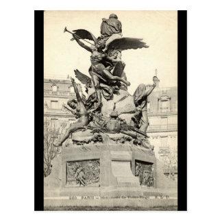 Monumento ao vintage de Victor Hugo Paris France Cartões Postais