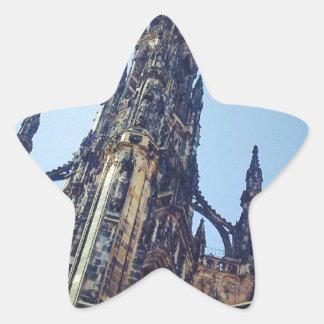 Monumento de Edimburgo Scott Adesivos Em Forma De Estrelas