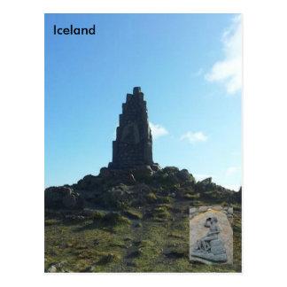 Monumento de Stephan Stephansson em Vatnsskarð Cartão Postal