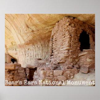 Monumento nacional das orelhas do urso pôster