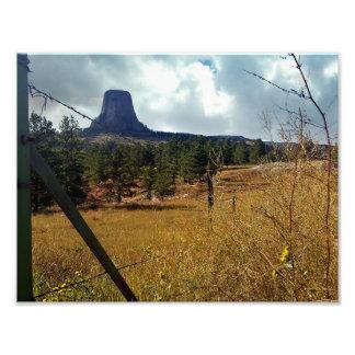 Monumento nacional Wyoming da torre dos diabos Impressão De Foto