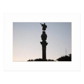 Monumtento um Colón, Barcelona Cartão Postal