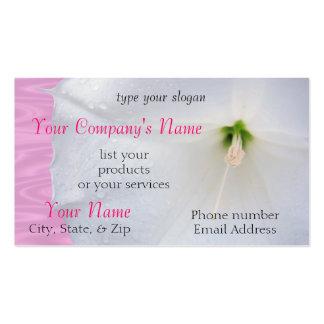Moonflower na chuva cartão de visita