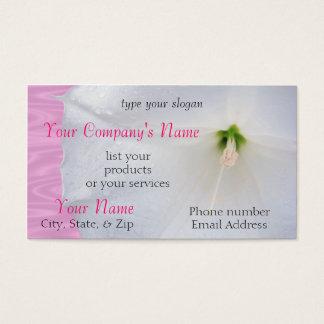 Moonflower na chuva cartão de visitas