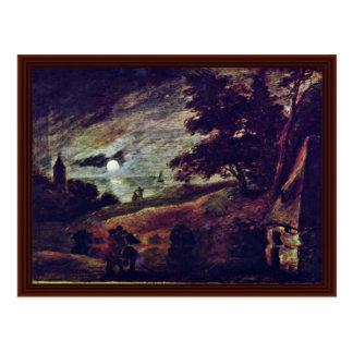Moonscape por Brouwer Adriaen Cartões Postais