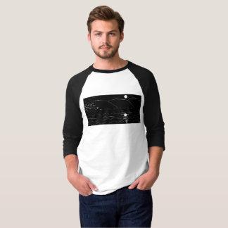 moonshine a camisa sleeved longa dos homens