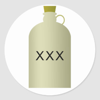 Moonshine etiquetas do jarro adesivo
