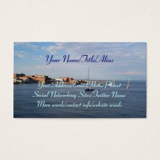 Moorage de Townsend do porto Cartão De Visitas