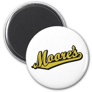 Moore no ouro imas de geladeira