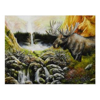 Moose~ uma pintura em produtos customizáveis cartão postal
