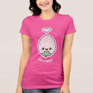 Morango cor-de-rosa de Kawaii da baga Camiseta