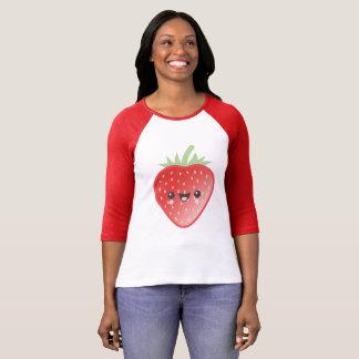 Morango de Kawaii Camiseta