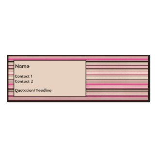 Morango do chocolate cartão de visita skinny