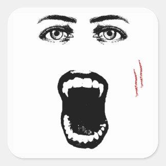 Morda-me etiquetas do Dia das Bruxas do vampiro