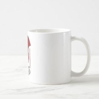 mordidas pequenas caneca de café