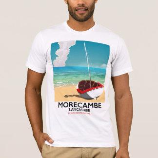 Morecambe, poster de viagens do beira-mar de camiseta